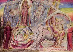 William Blake - Divina Comedia de Dante Beatriz Abordar Dante