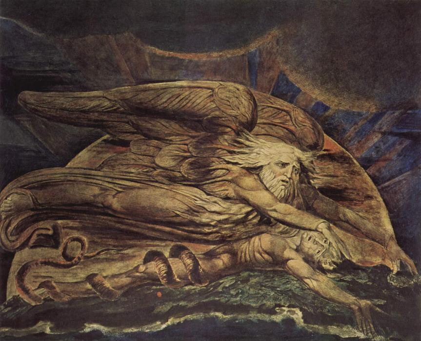 """Elohim erschuf Adam"""", acuarela de William Blake (1757-1827, United ..."""