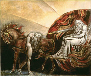 William Blake - Dios juzgar Adam