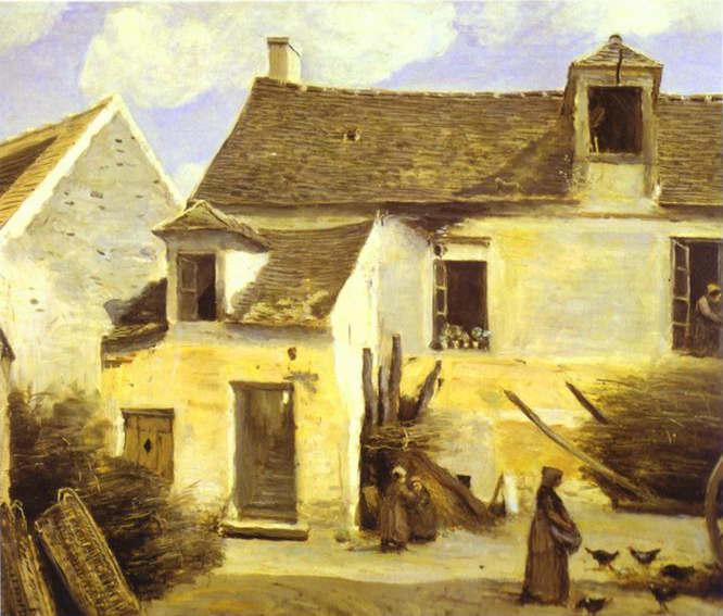 Cour d 39 une maison delaware paysans aux alrededores delaware par s aceite de jean baptiste - Une cour de maison ...