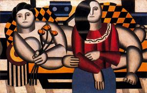 Fernand Leger - Mujer con flores