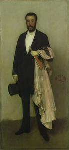 James Abbott Mcneill Whistler - arreglo en flesh color y negro , retrato de theodore duret