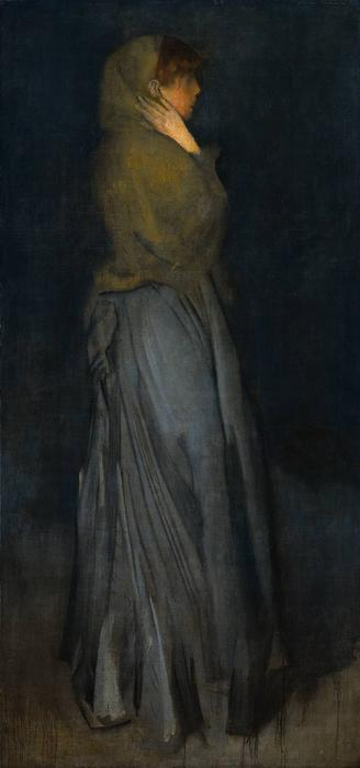 Arreglo en amarillo y gris, Effie Decanos, óleo de James Abbott Mcneill Whistler (1834-1903, United States)