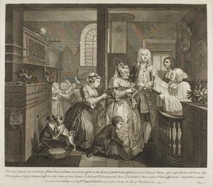 William Hogarth - Plate cinco , desde un Rake's Progress