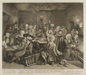 William Hogarth - Plate seis , desde un Rake's Progress