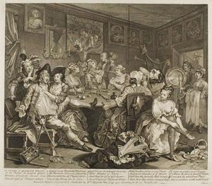 William Hogarth - Plate tres , desde un Rake-s Progress