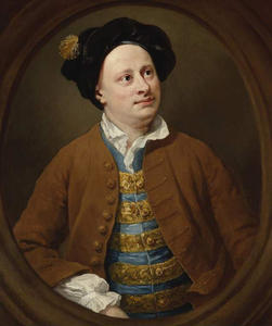 William Hogarth - retrato de richard james de en medio templo