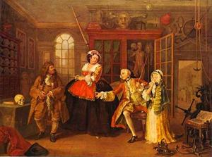 William Hogarth - La Visita al curandero