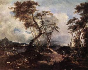Francesco Lazzaro Guardi - paisaje del