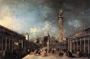 Francesco Lazzaro Guardi - Piazza di San Marco