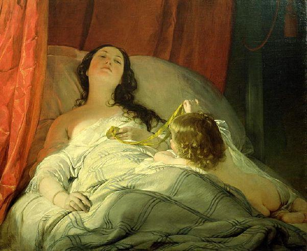 The Drowsy Uno de Friedrich Ritter Von Amerling (1803-1887)