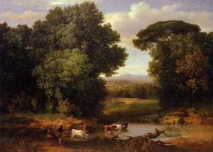 George Inness - Un tela  todaclasede  Romano  acueducto