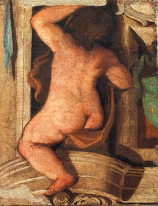 Guercino (Barbieri, Giovanni Francesco) - Putto (fresco)