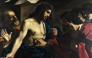 Guercino (Barbieri, Giovanni Francesco) - la incredulidad de san Thomas