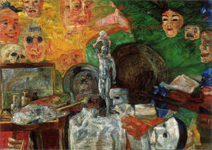 James Ensor - attributes` de estudio