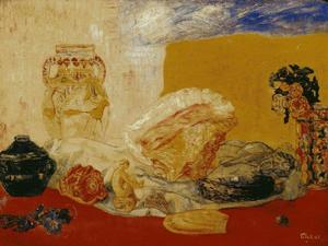 James Ensor - Coquillages rosas et jarrones