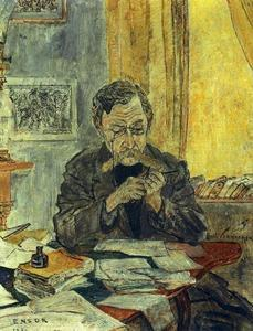 James Ensor - Retrato d Emile Verhaeren