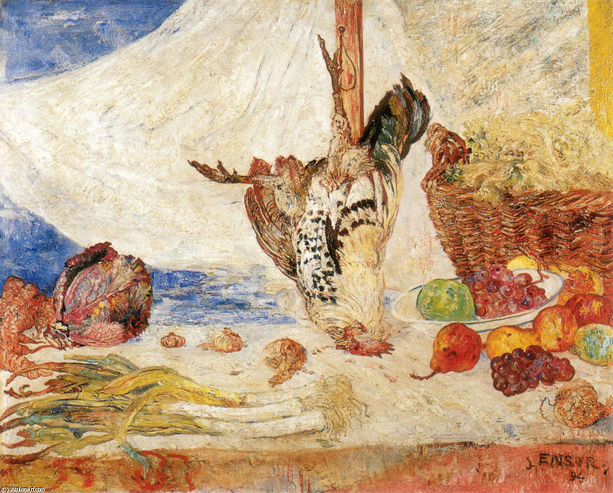 The Dead Gallito de James Ensor (1860-1949, Belgium) | WahooArt.com