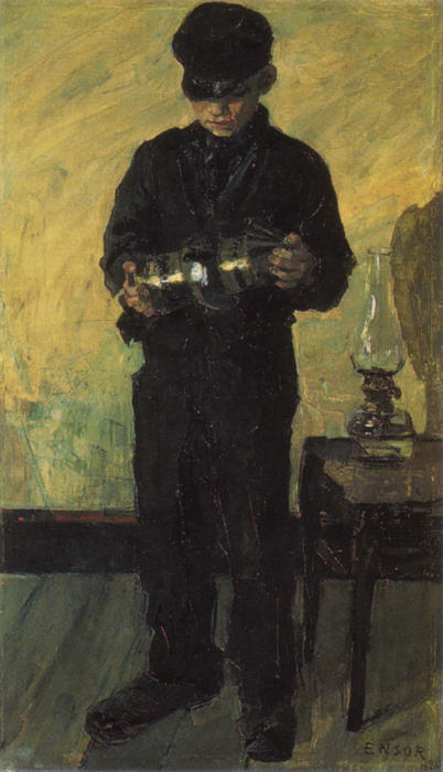 El Lamp-Boy ( el `lamplighter ) de James Ensor (1860-1949, Belgium) | WahooArt.com