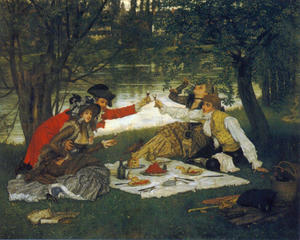 James Jacques Joseph Tissot - Partie Carrée