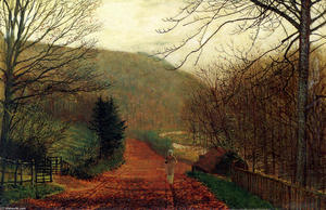 John Atkinson Grimshaw - forja valley , Scarborough
