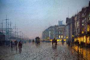John Atkinson Grimshaw - Liverpool desde Wapping