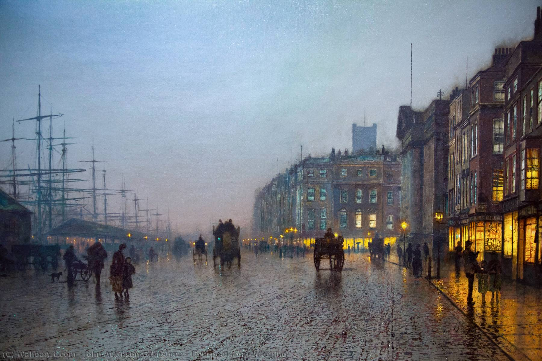 Liverpool desde Wapping, 1875 de John Atkinson Grimshaw (1836-1893, United Kingdom)