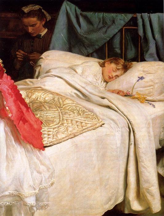 Sueño, óleo sobre lienzo de John Everett Millais (1829-1896, United Kingdom)