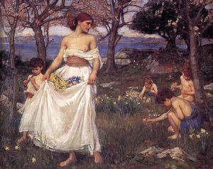 John William Waterhouse - a canción de primavera