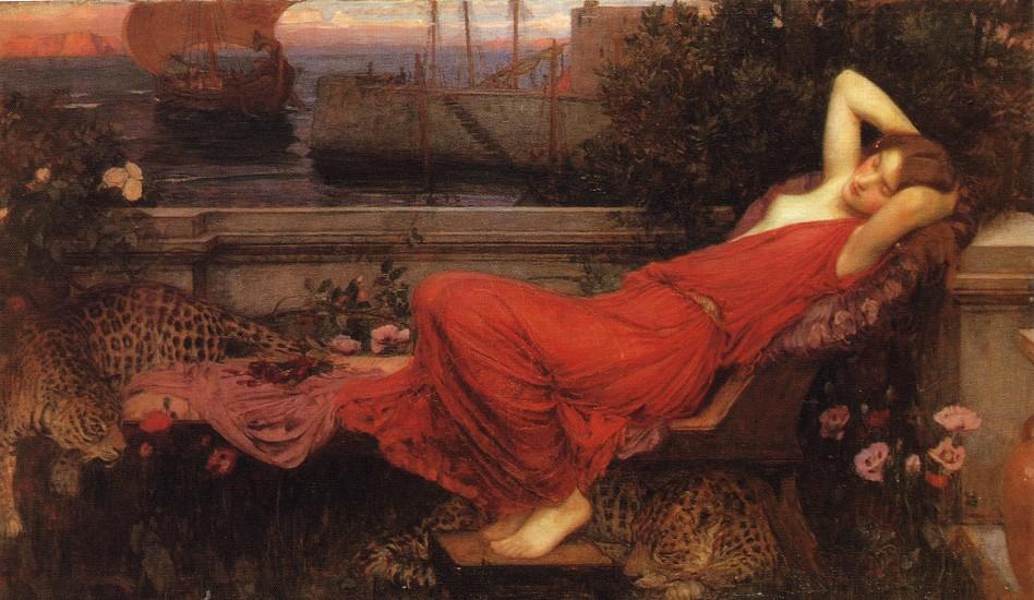 Ariana, óleo sobre lienzo de John William Waterhouse (1849-1917, Italy)