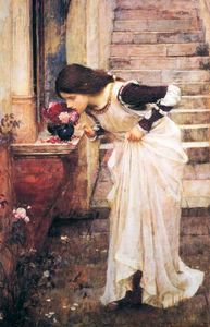 John William Waterhouse - En el Santuario