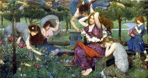 John William Waterhouse - La Flora y los Zephyrs