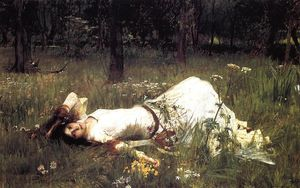 John William Waterhouse - Ofelia 1