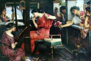 John William Waterhouse - Penélope y los pretendientes