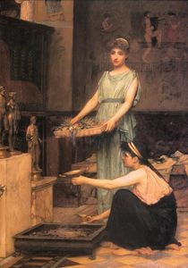 John William Waterhouse - el hogar dioses