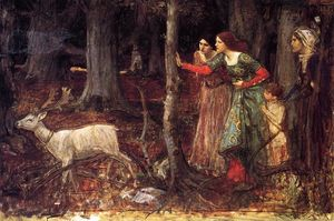John William Waterhouse - el místico madera