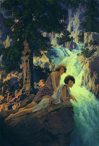 Maxfield Parrish - cascada