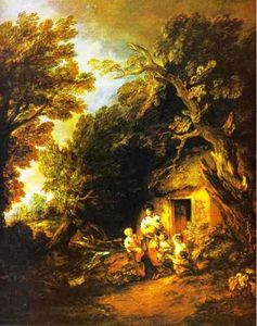 Thomas Gainsborough - La Puerta Cottage 1
