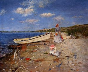William Merritt Chase - A Sunny Day en Shinnecock Bay