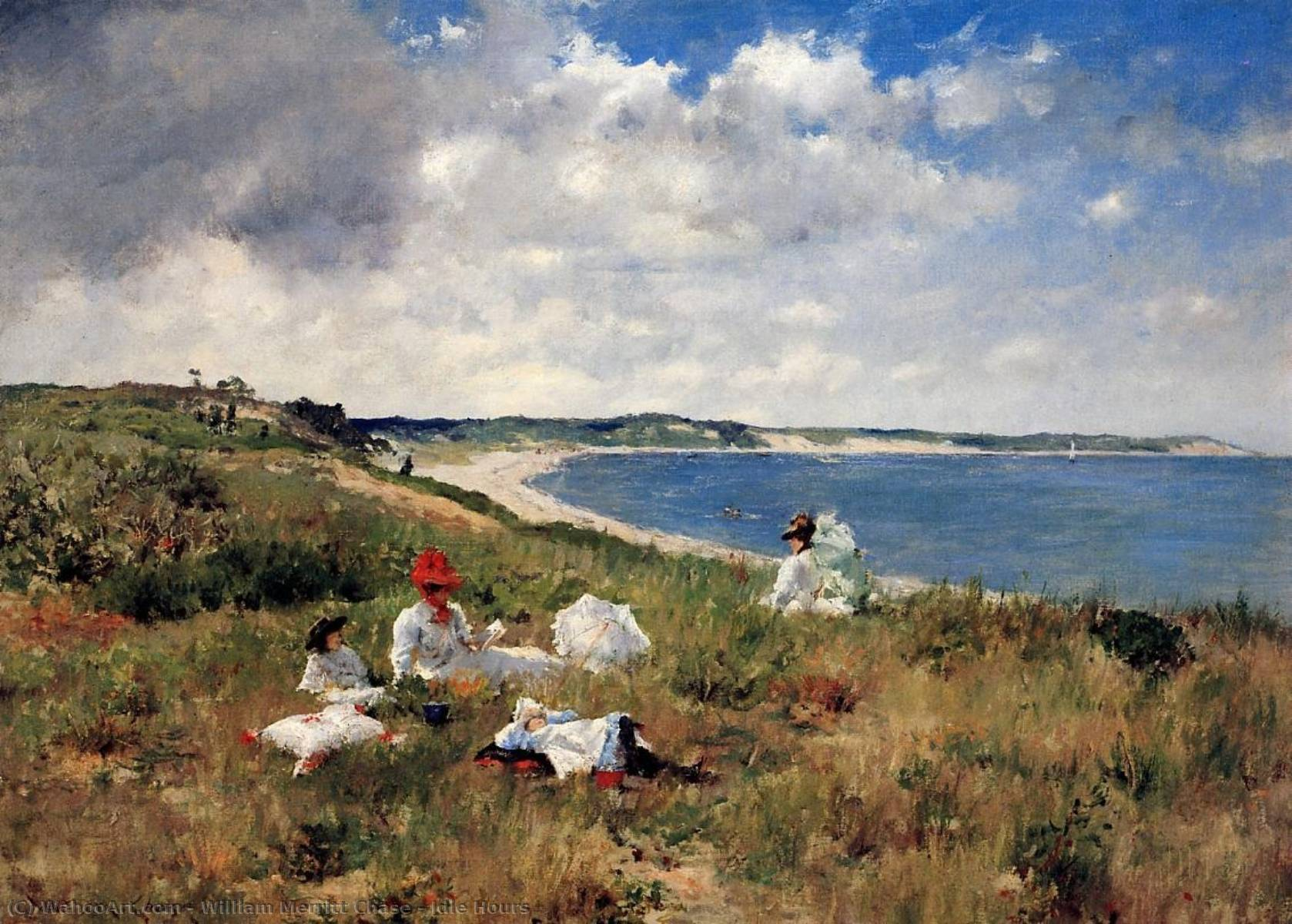 Horas ociosas, óleo sobre lienzo de William Merritt Chase (1849-1916, United States)