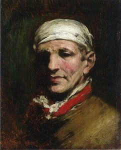 William Merritt Chase - Hombre con Bandana