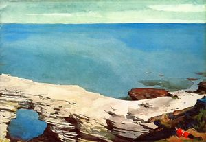 Winslow Homer - natural puente , Bahamas