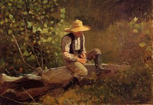 Winslow Homer - El Whittling Boy