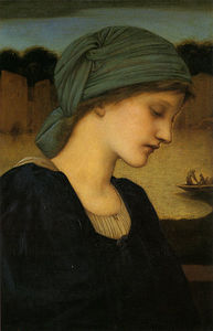 Pedir Reproducciones De Arte | Flamma Vestalis de Edward Coley Burne-Jones (1833-1898, United Kingdom) | WahooArt.com