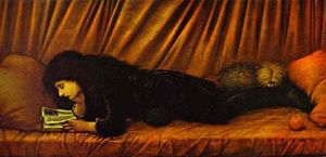 Edward Coley Burne-Jones - Retrato de Katie Lewis