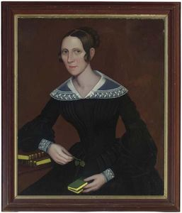 Ammi Phillips - Retrato de María Hoyt