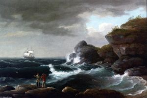 Thomas Birch - escena costera
