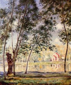 Alfred Sisley - Willows tarde soleada por Loing