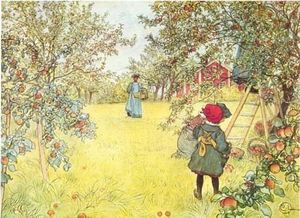 Carl Larsson - Cosecha de Apple