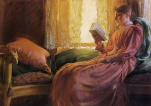 Charles Courtney Curran - chica leyendo
